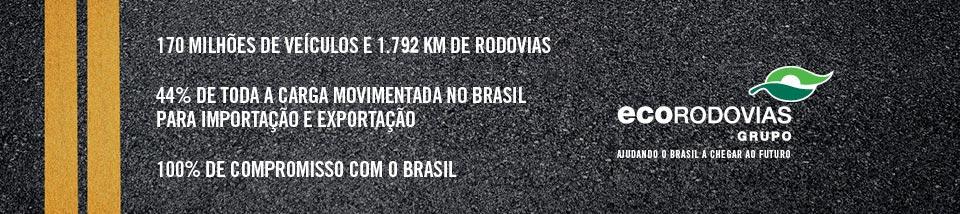 170 Milhões de veículos, 1;768 KM de rodovias, 44% da carga movimentada no brasil para importação e exportação, 100% de compromisso com Brasil.