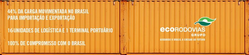 44% da carga movimentada no Brasil para importação e exportação. 14 unidades de logística e 1 terminal portuário. 100% de compromisso com o Brasil.